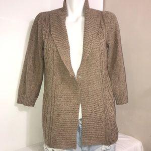 Reitmans Camel Tan Open Wrap Knit Cardigan Sweater